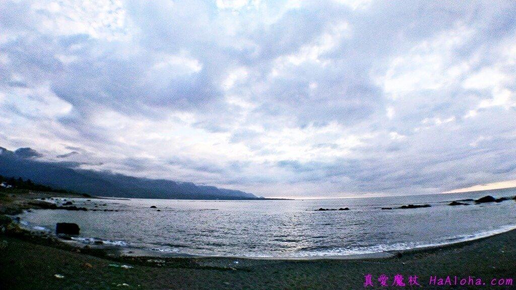 雲太多,日出沒看到,看看美麗的彩霞也不錯。